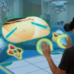 Smart medical with augmented and virtual reality Smart medical with augmented and virtual reality technology concept, medical student use ar and vr for practice the surgery simulation to assist the doctor in vr in operation room to feel like a real